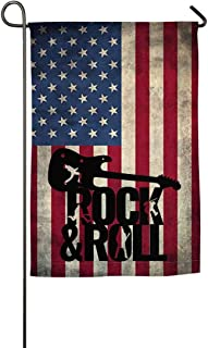 WSEDRF Vinilo Rock and Roll Garden Flag Single Side Decorative Party Festival Flags Banner for...
