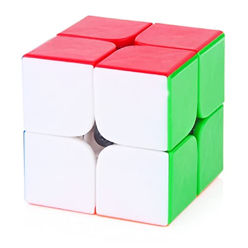EMOB 2X2 High Speed Stickerless Speedy Rubik Magic Puzzle Cube