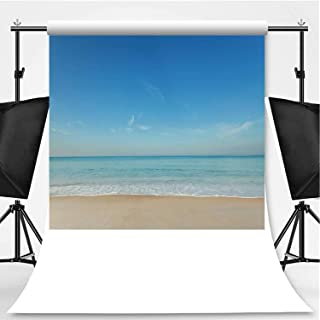 Andaman Seascape Scenic Off mai khao Beach and Wave Crashing on Sandy Shore in Phuket Thailand Photography Background,can be Used for for Photography,Pictorial Cloth:5x7ft