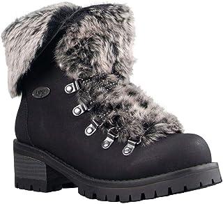 Lugz Women's Adore Fur Classic Chukka Fashion Boot, Black, 7.5, M