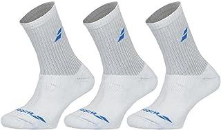 Calcetines de bádminton, tenis y squash (3 unidades), color blanco
