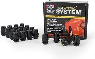 "Gorilla Automotive 71633NBC""The System"" Acorn Black Chrome Wheel Locks (12mm x 1.50 Thread Size) - For 5 Lug Wheels"