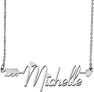 Aoloshow Customized Custom Name Necklace Personalized - Custom Made Any Name Necklace Initial Monogrammed Gift for Womens Girls