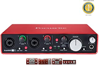 Focusrite Scarlett 2i4 Second Generation (2nd Gen) 2 in/4 out USB 2.0 Audio Interface with 1 Year EverythingMusic Extended Warranty Free