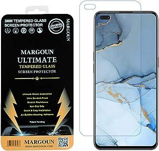 MARGOUN for OPPO Reno 3 Pro Screen Protector, Premium Tempered Glass film Easy Installation Frame Case-Friendly