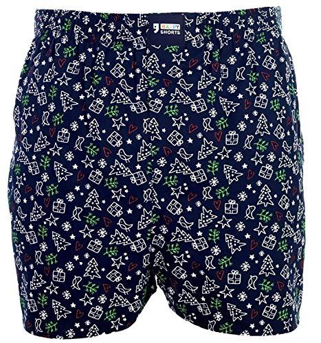 Happy Shorts American Boxer Boxershorts Shorts Webboxer D43 Geschenk Weihnachten, Grösse:M - 5-50, Farbe:Design 043