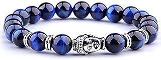 ARMONY PARIS Braelet Protection Pierre Naturelle Perle Semi précieuse Perle 8 mm Homme Femme Oeil de Tigre Bleu Rouge Jaun...