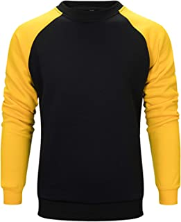 VANVENE Mens Fleece Crewneck Sweatshirt