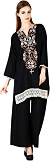 MEVE Readymade Black Embroidered Designer Kurta and Palazzo Set