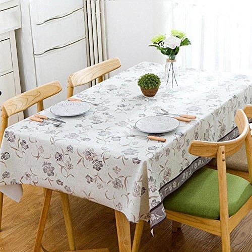 Longless Nappe résistant à l'huile imperméable PVC Nappe rectangulaire tapis chauffant antidérapant 1.37 * 1.37m