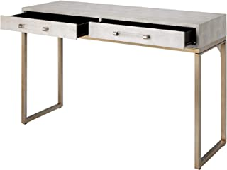 Jamie Young Kain Console in Ivor and Antique Brass Metal LSKAINCOIV