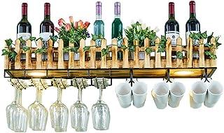 Cuisine Maison Porte-bouteilles Ménage Mural Porte-Verre À Vin Personnalité Casier À Vin Bar Casier À Vin En Verre Suspens...