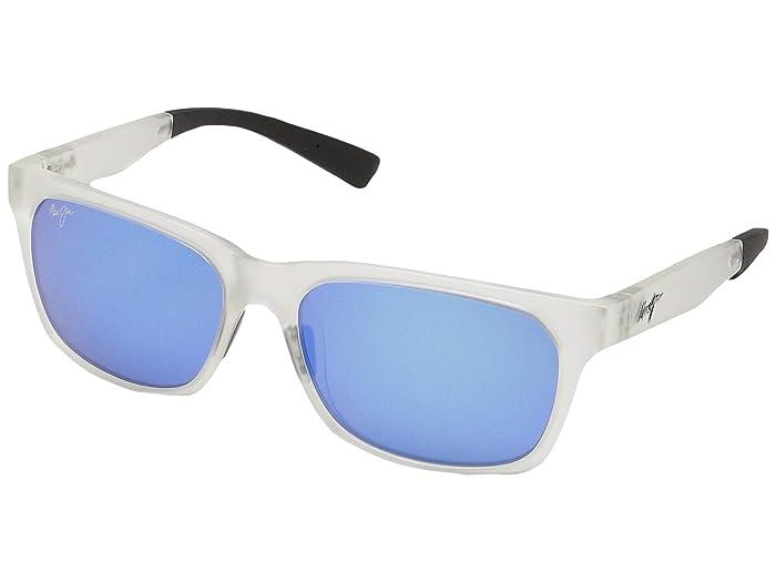 Boardwalk (Matte Crystal/Blue Hawaii) Fashion Sunglasses