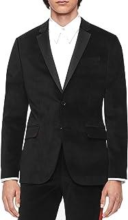 Calvin Klein Mens Lined Velvet Two-Button Blazer