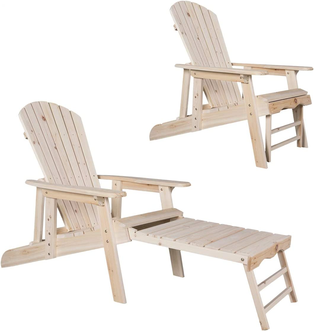 Kdgarden New Free Shipping Cedar Fir Log All stores are sold Wood with Fanback Adirondack Chair Pull-O