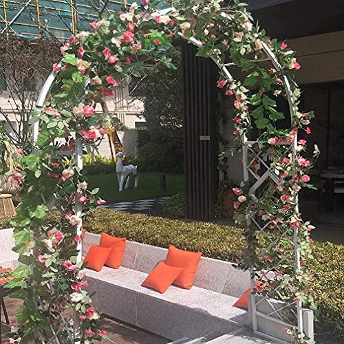 Arco De Soporte De Jardín Arco De Rosas Al Aire Libre Enrejado De Metal Arco De Boda para Plantas Trepadoras, Enredaderas, Luces Y Flores Fáciles De Instalar