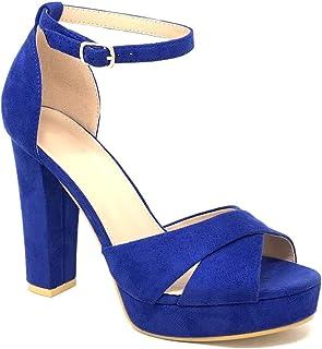 9046320845 Amazon.it: Scarpe Blu Tacco Camoscio