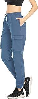 HISKYWIN Women Drawstring Waist Cinch-Bottom Sweatpants Cotton Yoga Joggers Pants Workout Lounge Pants with Pockets