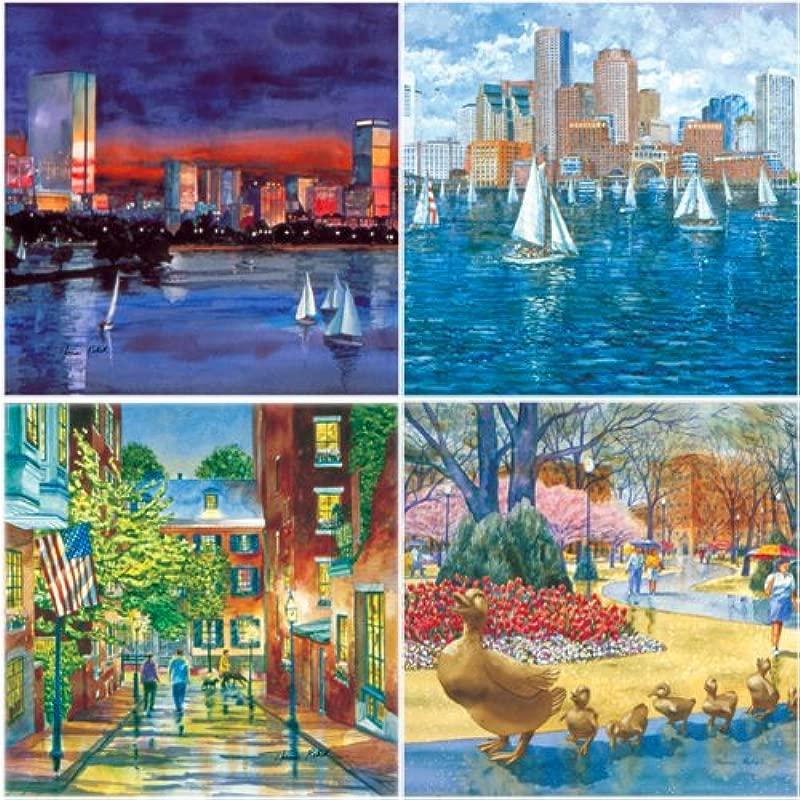 Boston Absorbent Coasters