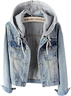 juniors denim jacket with hoodie