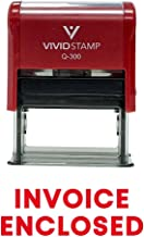 Invoice Enclosed Self Inking Rubber Stamp (Red Ink) - Large