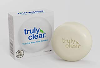 Truly Clear Blemish Bar Acne Treatment 98.42% Natural - Face Wash, Body, Back, Butt Cleanser, Pimple & Spot Removal, Cystic Acne Treatment, Rosacea, Oily, Sensitive Skin Care