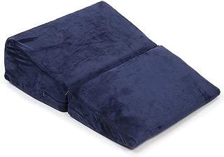 cocochi 三角枕 三角クッション 介護 逆流性食道炎 なだらかクッション 体圧分散 斜め マット 足枕 分けられる枕 幅50cm ネイビー
