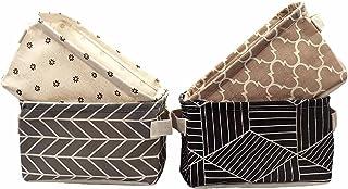 Umefly Caisses de rangement, Pliable Panier de Rangement,étanche Boîtes de Rangement,ronde petite Set de Rangement,21 x 21...