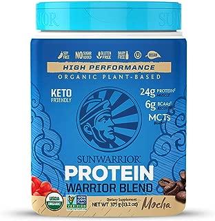 Sunwarrior - Warrior Blend, Plant Based, Raw Vegan Protein Powder with Peas & Hemp, Mocha, 15 Servings
