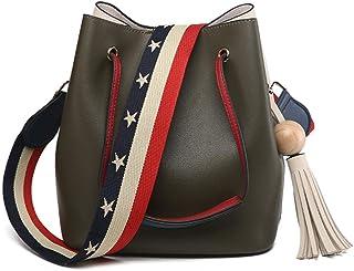 BUKESIYI Damen Tasche Umhängetasche Handtasche Frauen Klein Schultertasche Weekender Lack PU Leder CCDE77504