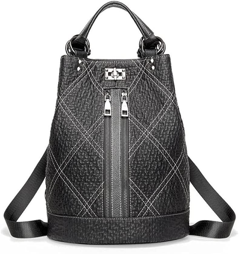 ZYSAJK Women Soft Leather Black Backpack Leather Backpacks Girls Anti Theft Backbag Female Rucksack s Fashion Women Backpack