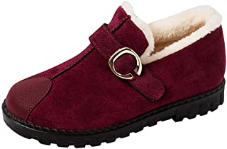 VonVonCo Boots Size Sports Formal Women Ladies Fashion Cotton Thickening Warm Snowshoes Short Loafers Shoes