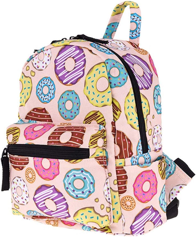 Xcstdjx Mini-Rucksack Mdchen Mode Cartoon Muster Reisen Rucksack Frauen Jugend Student Tasche