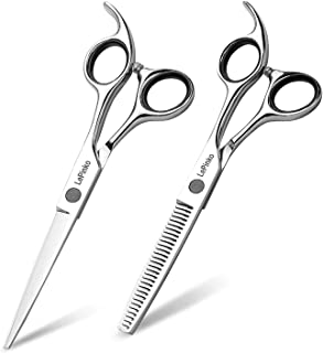 LePinko Hair Cutting Scissors Set, Professional Trimming and Thinning Shears Kit, 6.5 Inch Japanese Stainless Steel With P...