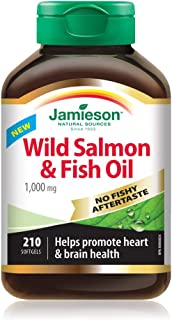 Jamieson No Fishy Aftertaste - Wild Salmon & Fish Oil 210 SoftGels