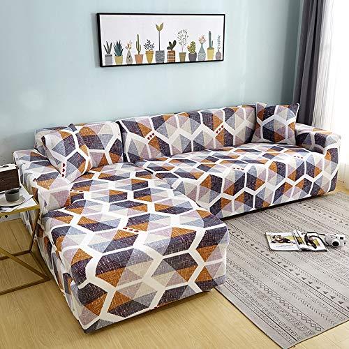 WXQY Funda de sofá elástica con Estampado Floral para Sala de Estar Funda Protectora para Silla Funda Protectora para Sala de Estar Funda de sofá a Prueba de Polvo Completa A35 1 Plaza