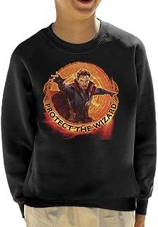 Marvel Avengers Infinity War Doctor Strange Protect The Wizard Kid's Sweatshirt
