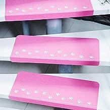 3PCS Paw Pattern Luminous Carpet Stair Treads Mats Home Decor Self-Adhesive Non-Slip Floor Staircase Carpets Protector Mat...