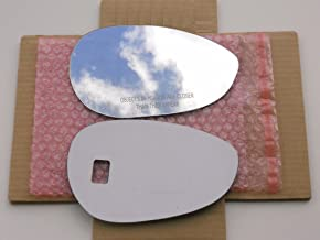 SINGLE PIECE New Replacement Mirror Glass with FULL SIZE ADHESIVE for Fiat 500 Passenger Side View Right RH