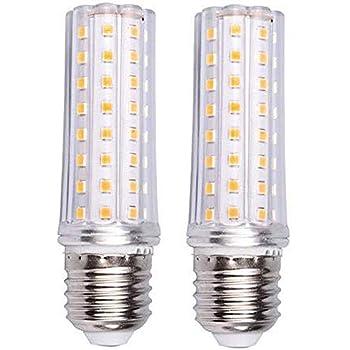 ILAMIQI E26 led Bulb dimmable Warm White 3000K Ceiling Fan led Bulbs,Flicker Free E26 LED Chandelier Bulbs 10W led Corn Light Bulb,100 Watt Equivalent Tubular,Frosted Pack of 3