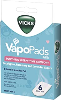 Vicks Sleepytime Waterless Vaporizer Scent Pads Rosemary, Lavender and Eucalyptus Scented Vapor Pad Refills, Vicks VapoPad Aromatic Pads for Use With Vaporizers, Humidifiers and Waterless Vaporizers