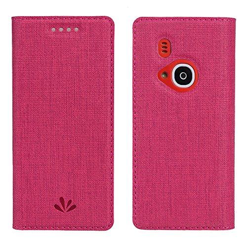 Nokia 3310case, Eastcoo Slim Fit PU custodia a flip magnetica del supporto card slot Smart Cover a portafoglio custodia TPU trasparente per Nokia 3310, Red, Nokia 3310