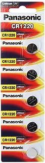 Panasonic CR1220 3V Lithium Battery 5 Pack