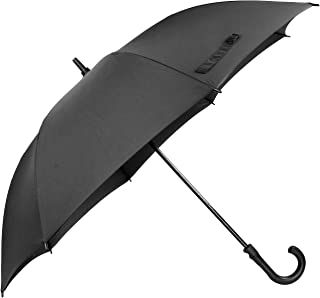 LOVE-HOME Golf Umbrella J Handle, Automatic Open, 8Ribs Windproof/Rainproof, Large Oversize Black Stick Umbrella, Lightweightfor Women Men