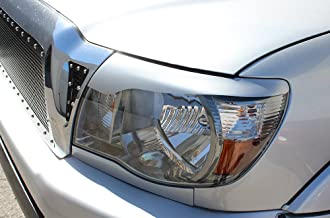 Factory Crafts Headlight Cover Decal Graphics Kit 3M Vinyl Wrap Compatible with Toyota Tacoma 2005-2011 - Silver