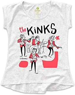 Camiseta T-shirt Feminina Rock Cool Tees Caco Galhardo Banda The Kinks