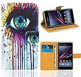 Sony Xperia E1 Handy Tasche, FoneExpert Wallet Hülle Flip Cover Hüllen Etui Ledertasche Lederhülle Premium Schutzhülle für Sony Xperia E1