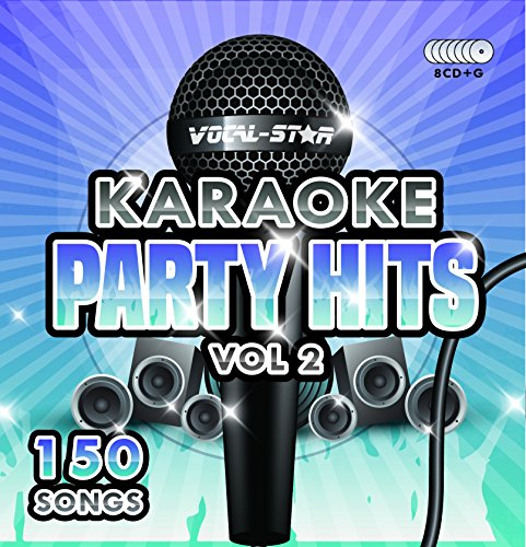 Karaoke Party Hits Vol 2 CDG CD+G Disc Set - 150 Songs on 8 Discs (Adele, Edd Sheeran, Coldplay, Abba, Beatles, Frank Sinatra, One Direction)