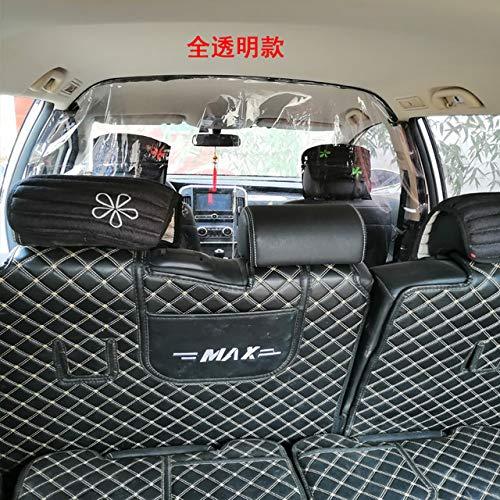 Fijnere Transparante Auto Anti Druppels Bewijs Isolatie Scherm PVC Beschermfolie Gordijn Voor Uber Taxichauffeur Personenauto-interieur, Voor Achter