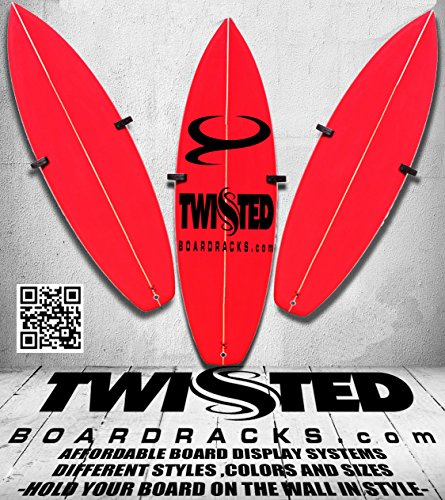 Vertical Surfboard Wall Storage Display Racks Dark Teak Wood Any Height Angle